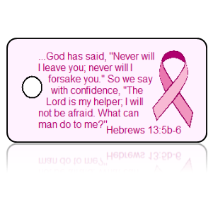 Hebrews 13:5b-6 Awareness Key Tag