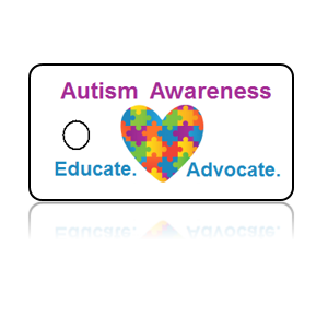 Autism Awareness Puzzle Heart Key Tags