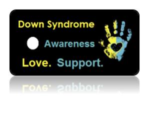 Down Syndrome Awareness Hand Print Key Tags
