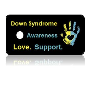 Down Syndrome Awareness Hand Print Key Tags