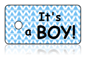 Birth Announcement Baby Boy Key Tags