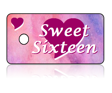 Birthday Announcement Sweet Sixteen Key Tags