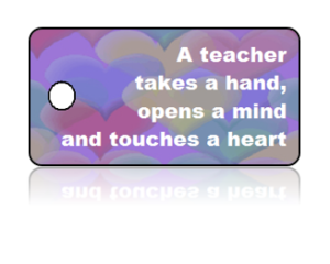 Teacher Appreciation Hearts Key Tags