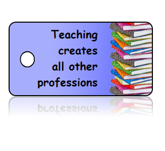 Teacher Appreciation Books Border Key Tags