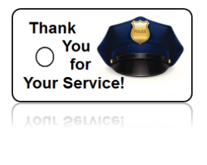 Police Appreciation Hat Background Key Tags