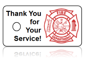 Firefighter Appreciation Key Tags