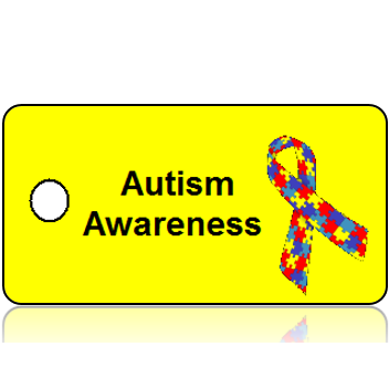 Autism Awareness Ribbon Key Tags