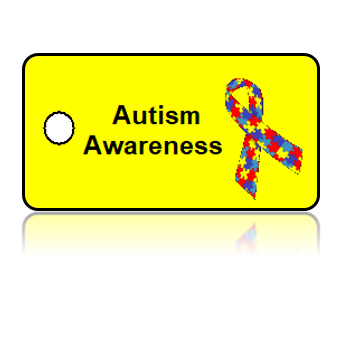 Autism Awareness Ribbon Key Tags