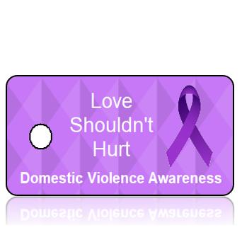 Aware09DV - Domestic Violence Awareness- Love Shouldnt Hurt - Purple Diamonds