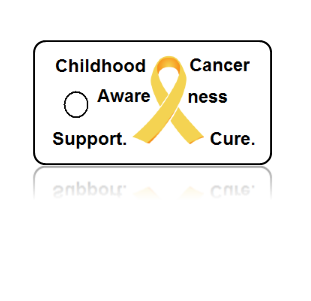Childhood Cancer Awareness Yellow Ribbon Key Tags