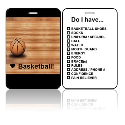 Sports Bag Tag Love Basketball