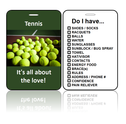 Sports Bag Tags Tennis Love