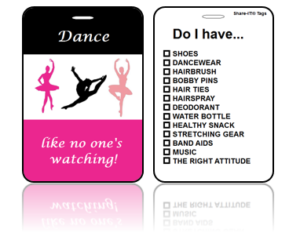 Sports Bag Tags Dance