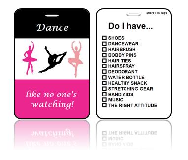 Sports Bag Tags Dance