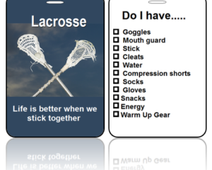 Sports Bag Tags Lacrosse