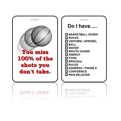 Sports Bag Tag Basketball Shots