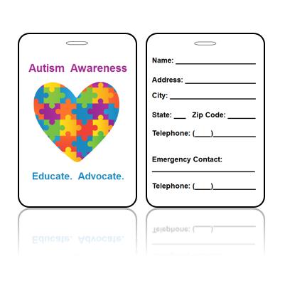 Awareness Bag Tag – Autism Educate Advocate