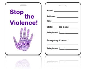 Awareness Bag Tags Domestic Violence