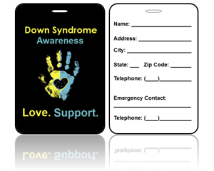 Awareness Bag Tags Down Syndrome