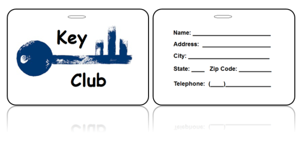 Key Club Bag Tags