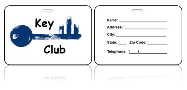 Key Club Bag Tag