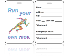 Sports Bag Tags Running