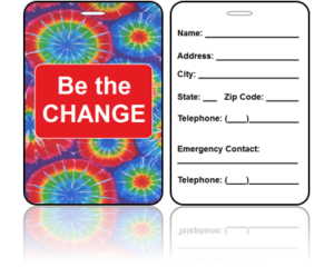 Be The Change Bag Tags