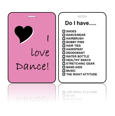 Sports Bag Tag Love Dance