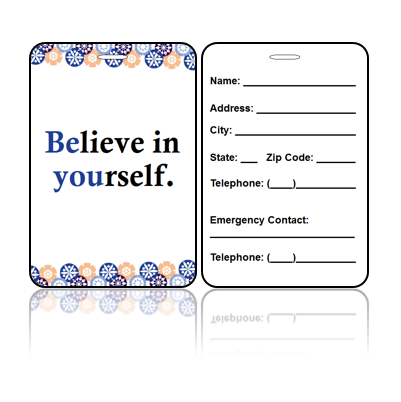 Motivational Believe Bag Tags