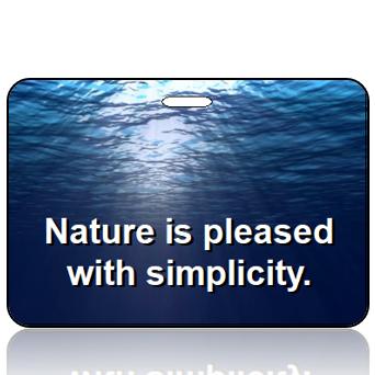 Nature Simplicity Bag Tags