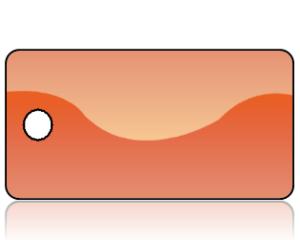 Create Design Key Tags Orange Modern Wave