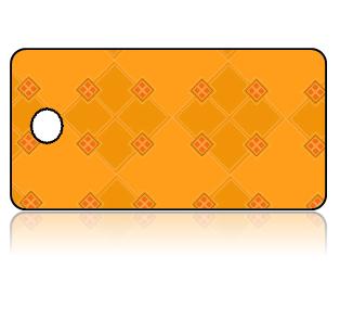 Create Design Key Tags Golden Orange Diamond Pattern