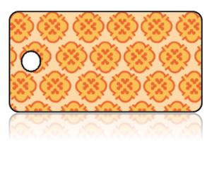 Create Design Key Tag Orange Yellow Background