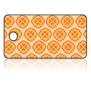 Create Design Key Tags Orange Yellow Background