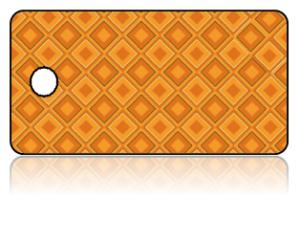 Create Design Key Tags Modern Orange Red Diamond Pattern
