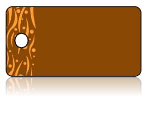 Create Design Key Tags Brown Background Orange Modern