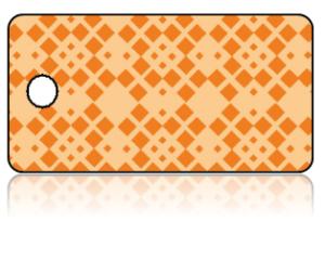 Create Design Key Tags Orange Diamond Modern Pattern