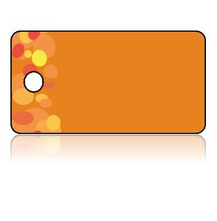 Create Design Key Tags Red Yellow Orange Spots Dots Pattern