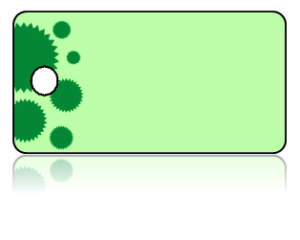Create Design Key Tags Green Cupcake Liner Border