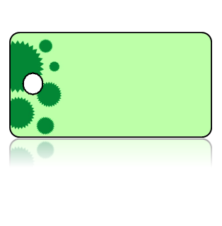 Create Design Key Tags Green Cupcake Liner Border
