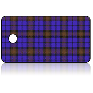 Create Design Key Tags Blue Purple Orange Plaid