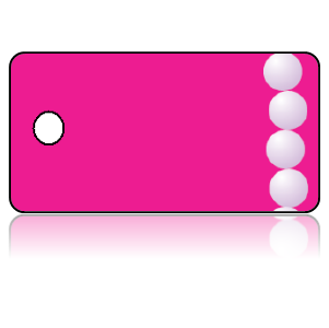 Create Design Key Tags White Pearls Hot Pink Background
