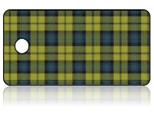Create Design Key Tags Yellow Blue Plaid