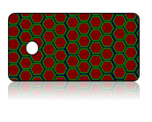 Create Design Key Tags Red Green Octagon Pattern