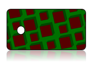 Create Design Key Tags Red Green Square Modern Pattern