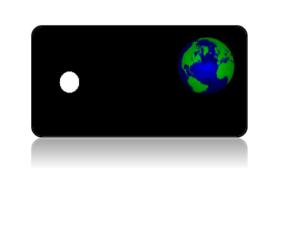Create Design Key Tags Globe Black Background