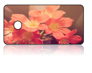 Create Design Key Tag Pink Yellow Flowers