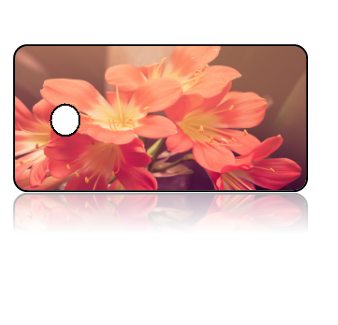 Create Design Key Tags Pink Yellow Flowers
