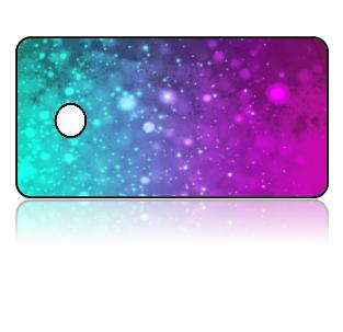 Create Design Key Tags Purple Pink Blue Sparkle