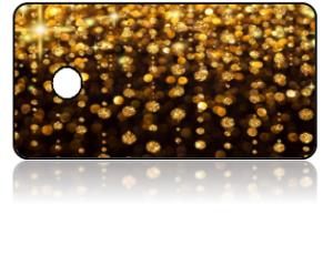 Create Design Key Tag Gold Sparkle Black Background